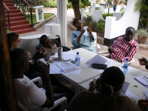 Group discussion round table at the Resort