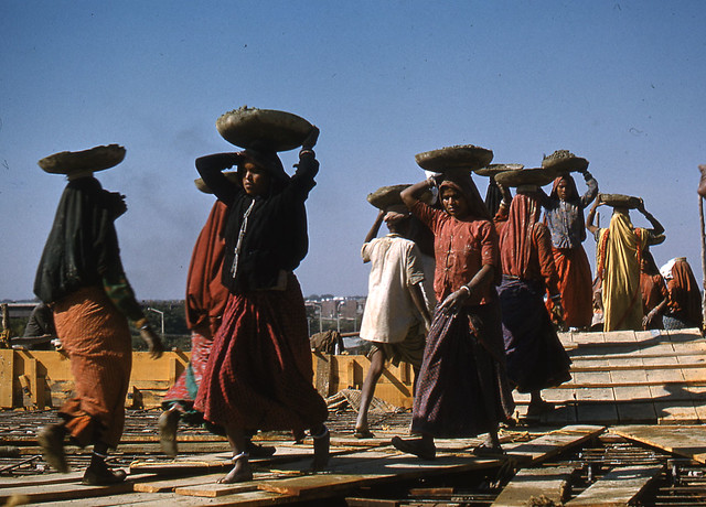 Picture showing a group of women carrying water