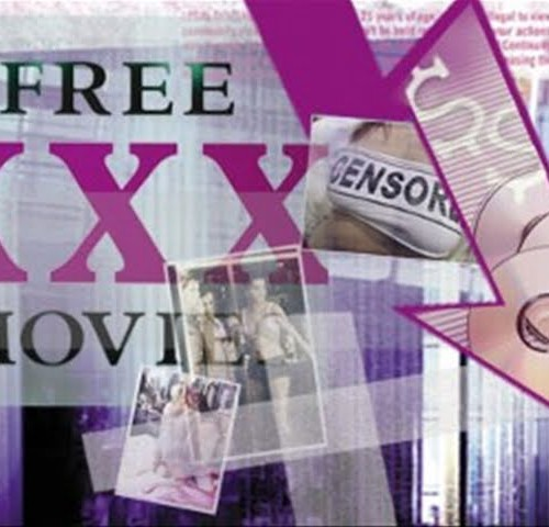 """Free XXX movie"" written in bold. A small photo over it reads ""censored"". Two more small blurred pictures are dropped over it."