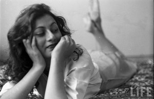 Hindi Movie Actor Madhubala in her Room- Photographed by James Burke for Life Magazine 1951