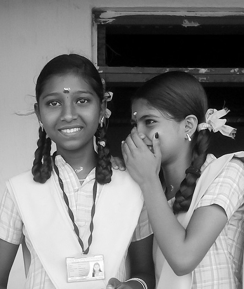 In Plainspeak English Audit In Plainspeak English Audit 100% 10 Two girls in school uniforms with pleated hair. One says something to another in her ear, giggling. Screen reader support enabled. Two girls in school uniforms with pleated hair. One says something to another in her ear, giggling.