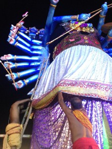 There is much detail to attention given to the evil king Ravan, whose destruction marks the last episode of the Ramleela performance.