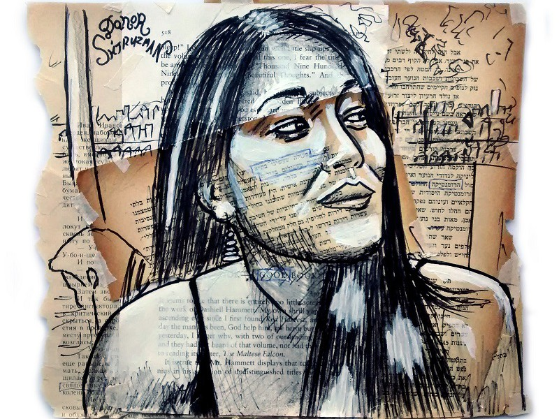 In Plainspeak English Audit In Plainspeak English Audit 100% 10 Drawing of a woman with newspaper clippings in foreshadow. Screen reader support enabled. Drawing of a woman with newspaper clippings in foreshadow.