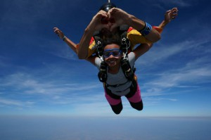 'Flying' with my Argentinean instructor in Empuria Brava, Spain. August 2013