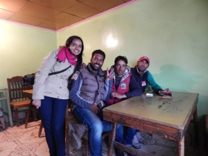 With my ski guide and his friends in Gulmarg, Kashmir. June, 2015