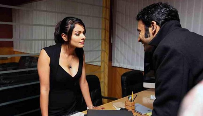Pooja Kumar plays a female scientist in Tamil movie 'Viswaroopam'.