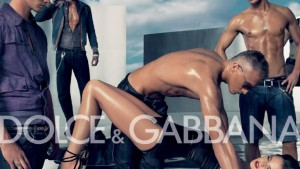 """Sexuality in the media: Dolce and Gabanna """"gang-bang"""" ad."""