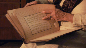 Partition Stories: Jitender Sethi with Mirza Ghalib's book