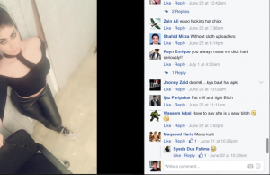 Sexuality in the media: Qandeel Baloch's Facebook photo and comments it garnered.
