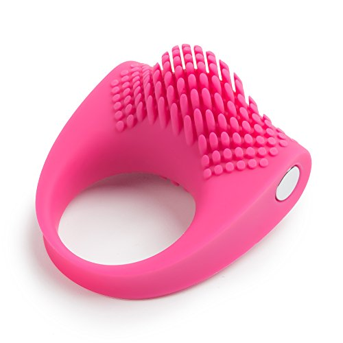A pink-coloured vibrating penis ring.