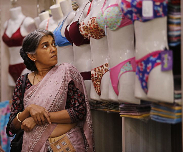 """Still from """"Lipstick Under My Burkha"""", showing actress Ratna Pathak Shah in a lingerie store"""