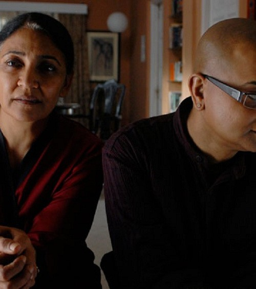 "Still from ""Memories in March"", veteran actor Deepti Naval beside late director Rituparno Ghosh"