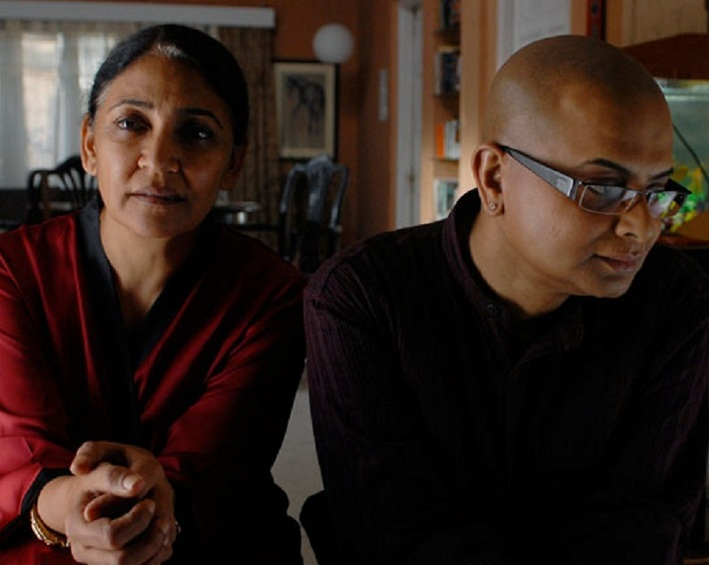 """Still from """"Memories in March"""", veteran actor Deepti Naval beside late director Rituparno Ghosh"""