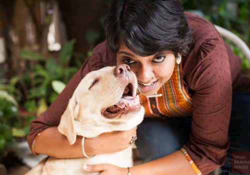 A photo of the author of the piece, Anoopa Anand, with her dog.