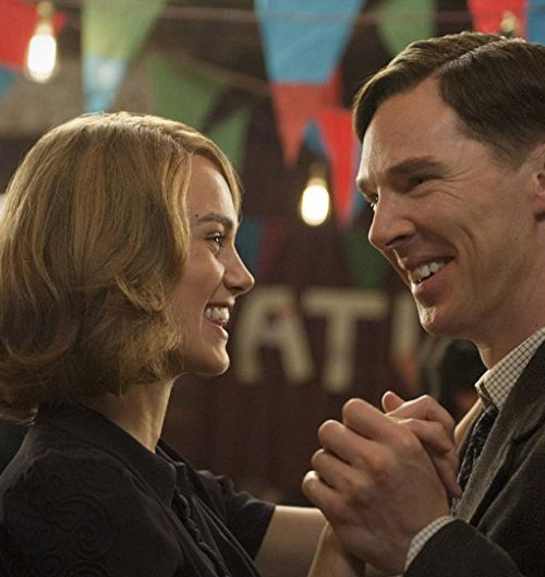 A still from the movie 'Imitation Game', featuring actors Benedict Cumberbatch and Keira Knightley dancing with each other