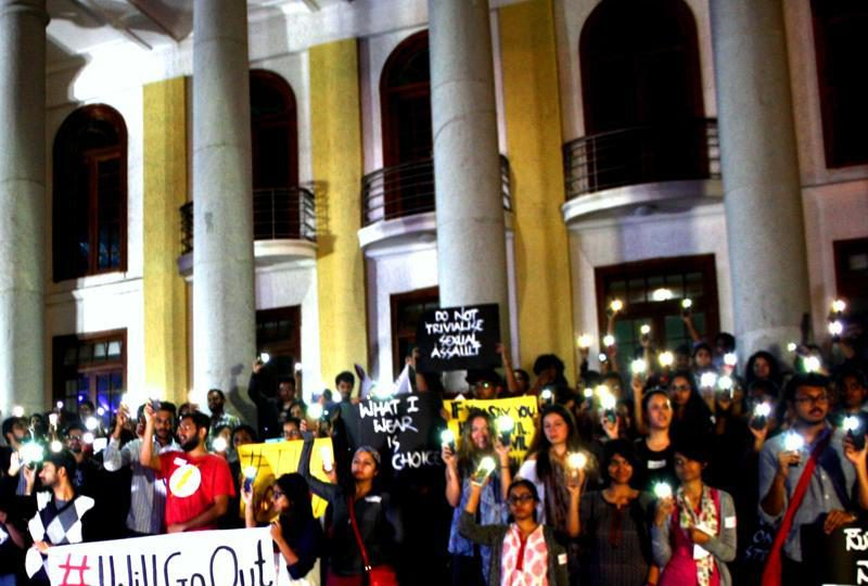 online activism: Women and men gathered for a protest in Bengaluru(Photo courtesy: Night in my Shining Armour)