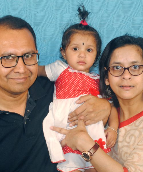 disability rights activist jeeja ghosh with her husband and daughter