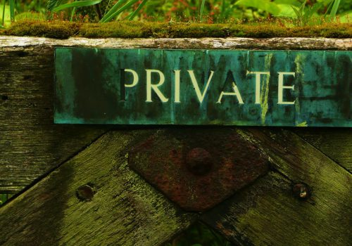 a signboard marked 'private'