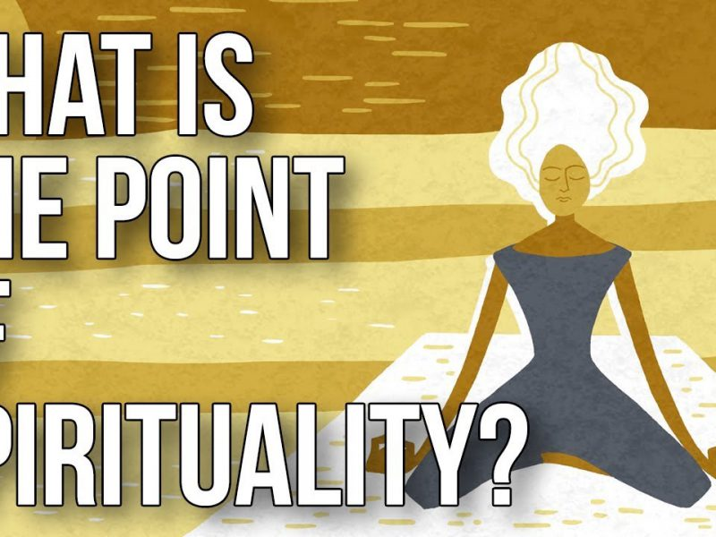 """The title card of the video, """"what is the point of spirituality?"""""""