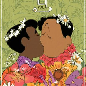 Cover image of 'Puu', showing two queer people kissing
