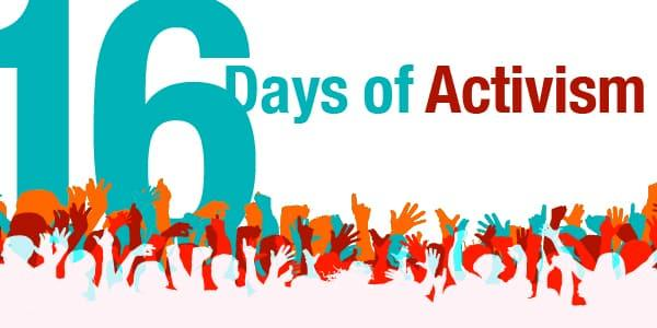 poster for the 16 days of activism campaign