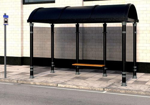 picture of an empty bus stop