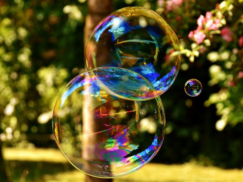 Image of two colourful bubbles