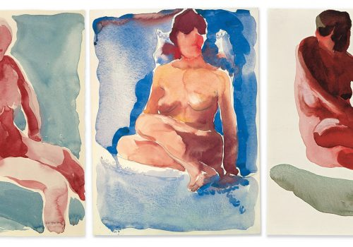 a series of nude paintings of women
