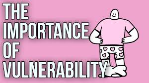 title card for the video : 'the importance of vulnerability'