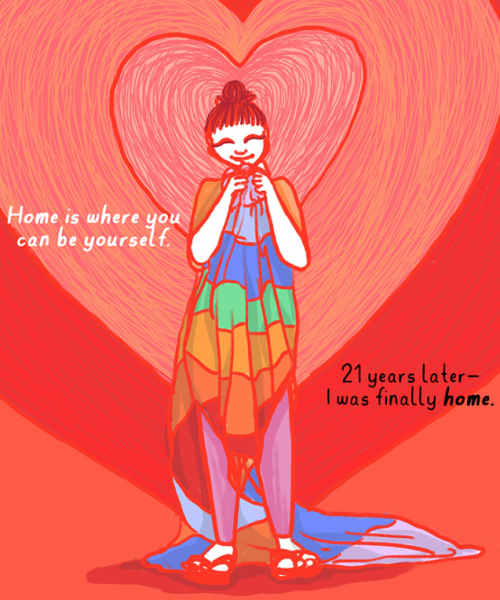 "Excerpt from comic, ""Finding Home"""