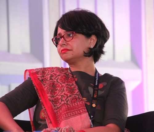 A photograph of disability rights advocate and activist Amba Salelkar