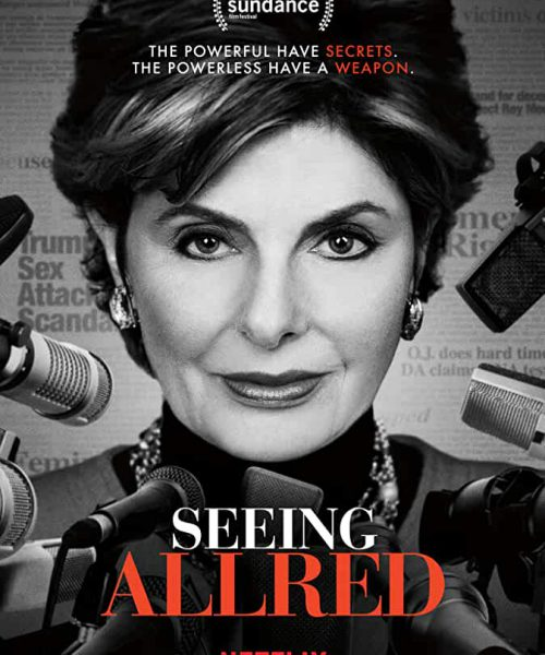 A poster of Netflix's documentary film 'Seeing Allred'