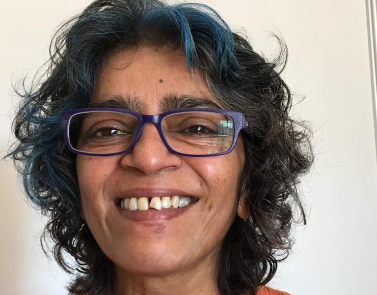 A photograph of Radhika Chandiramani, a clinical psychologist, writer and editor, and founder of TARSHI.